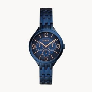 🌼 Fossil blue stainless steel watch
